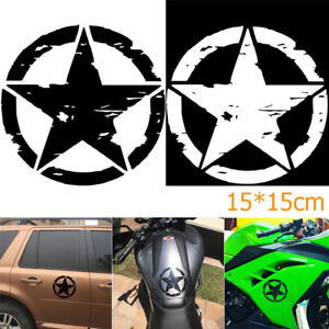 15-15cm-ARMY-Star-Graphic-Decals-Motorcycle-Vinyl-Car-styling-Car-Stickers-HOOT