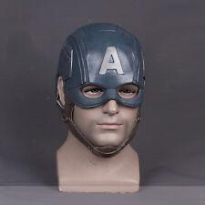 Halloween Captain America Steven Cosplay Helmet Fancy Ball Soft Latex Mask Props