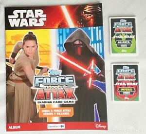 Album-Star-Wars-Topps-Force-Attax-Tradding-cards-game-Nuevo-25-cromos