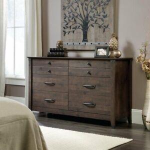 Sauder-Carson-Forge-6-Drawer-Dresser-in-Coffee-Oak