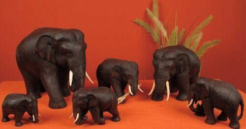 Länge 13cm Buddha Holzelefant Teak Elefant aus Holz Höhe 10 cm Figur Gr.1