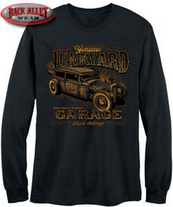 JUNKYARD GARAGE AUTO SALVAGE RAT ROD OUTLAW SPEED SHOP SLEEVELESS T SHIRT