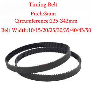 225-342mm-HTD-3M-Timing-Belt-Pulley-Belt-10mm-50mm-15mm-Width-Rubber-Drive-Belt