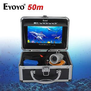 EYOYO-7-034-Monitor-Unterwasser-50M-Fischfinder-Ozean-Sea-Fishing-Kamera-Silber