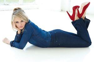 60516b6f Image is loading Wizard-Jeans-Ladies-Zara-Bootcut-Midnight-Blue-Size-