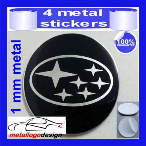 METAL STICKERS WHEELS CENTER CAPS Centro LLantas 4pcs SUBARU 3