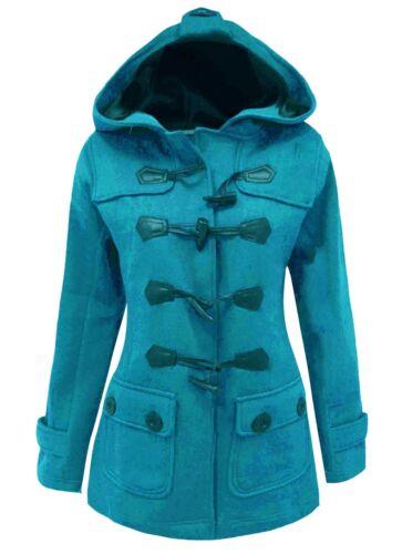 new listing 12-24 Ladies New Fleece Duffle Style Hooded Coat Long ...