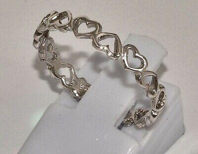 massiv Sterling Silber 925 Ring aus vielen Herzen Herzchen zierlich und filigran