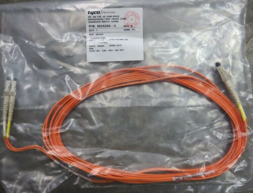 Tyco 6828288-5 LC To LC Duplex Patch Cable 5 Meter