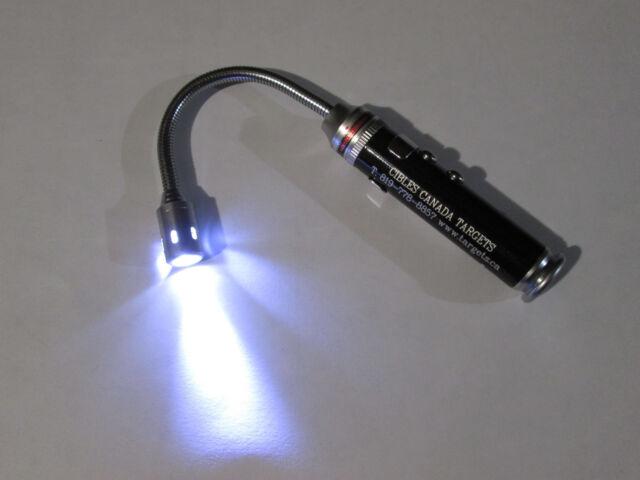 Laser Pointer & Flexible LED Light Pen size w/magnet Bore light
