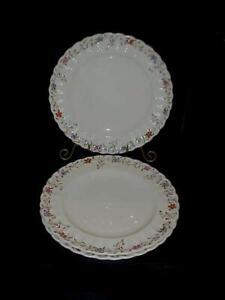 Vintage-Lot-de-3-Copeland-Spode-osier-Dale-motif-Angleterre-10-1-2-assiettes