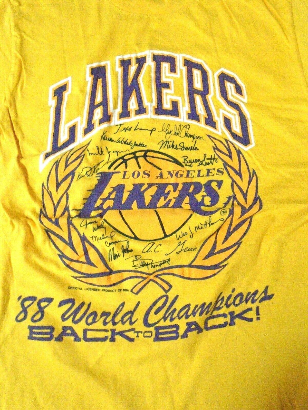 VTG 80s NBA Los Angeles Lakers 1988 Back to Back … - image 2