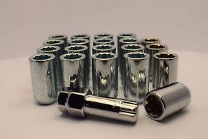 Set de 20 12x1.5mm 12x1.5 Acero De Aleación Rueda Tuercas De Orejeta 60