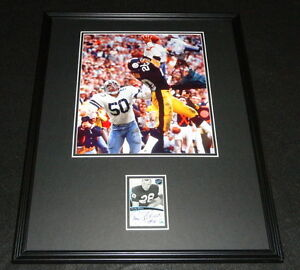 Rocky-Bleier-Signed-Framed-16x20-Photo-Display-PP-Steelers-Notre-Dame
