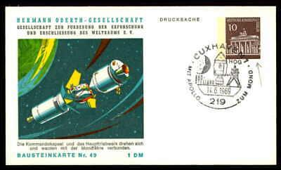 Berlin Privat-ga 1969 Weltraum Space Bausteinlarte 49 Hog Hermann Oberth Ep50 Belebende Durchblutung Und Schmerzen Stoppen