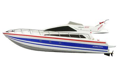 Dinamico Rc Motoscafo Chow Atlantic Yacht 73cm Lungo Incl. Batteria + Caricabatteria Nuovo-mostra Il Titolo Originale