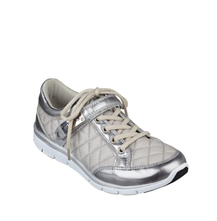 GUESS Savero Jogger Fashion Sneakers Metallic Metallic Sneakers Silver Gray Quilted US 6, 9, 9.5 60eba8