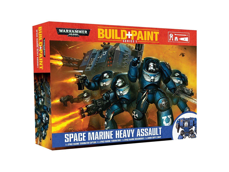 Envio gratis en todas las ordenes Warhammer 40.000 - Space Marine Heavy Assault-Build Assault-Build Assault-Build + Pintura-Nuevo  punto de venta