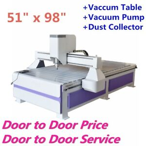 Details About Usa 51 X 98 Ad Woodworking Cnc Router Machine With 3kw Spindle Vaccum Table