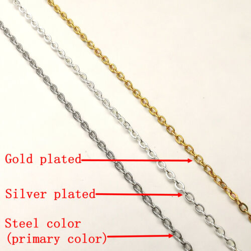 1.5// 2//2.4mm Width Stainless Steel Link Chain Findings Rolo Oval Welding seal