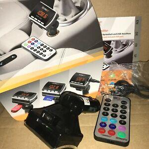 Technaxx FMT 100 schwarz Transmitter USB- und Audioanschluss LED Display