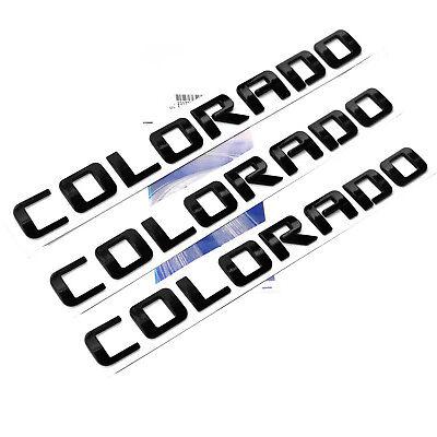 1x OEM Black COLORADO Nameplate Alloy Letter Emblem for COLORADO Chevrolet 3U YU