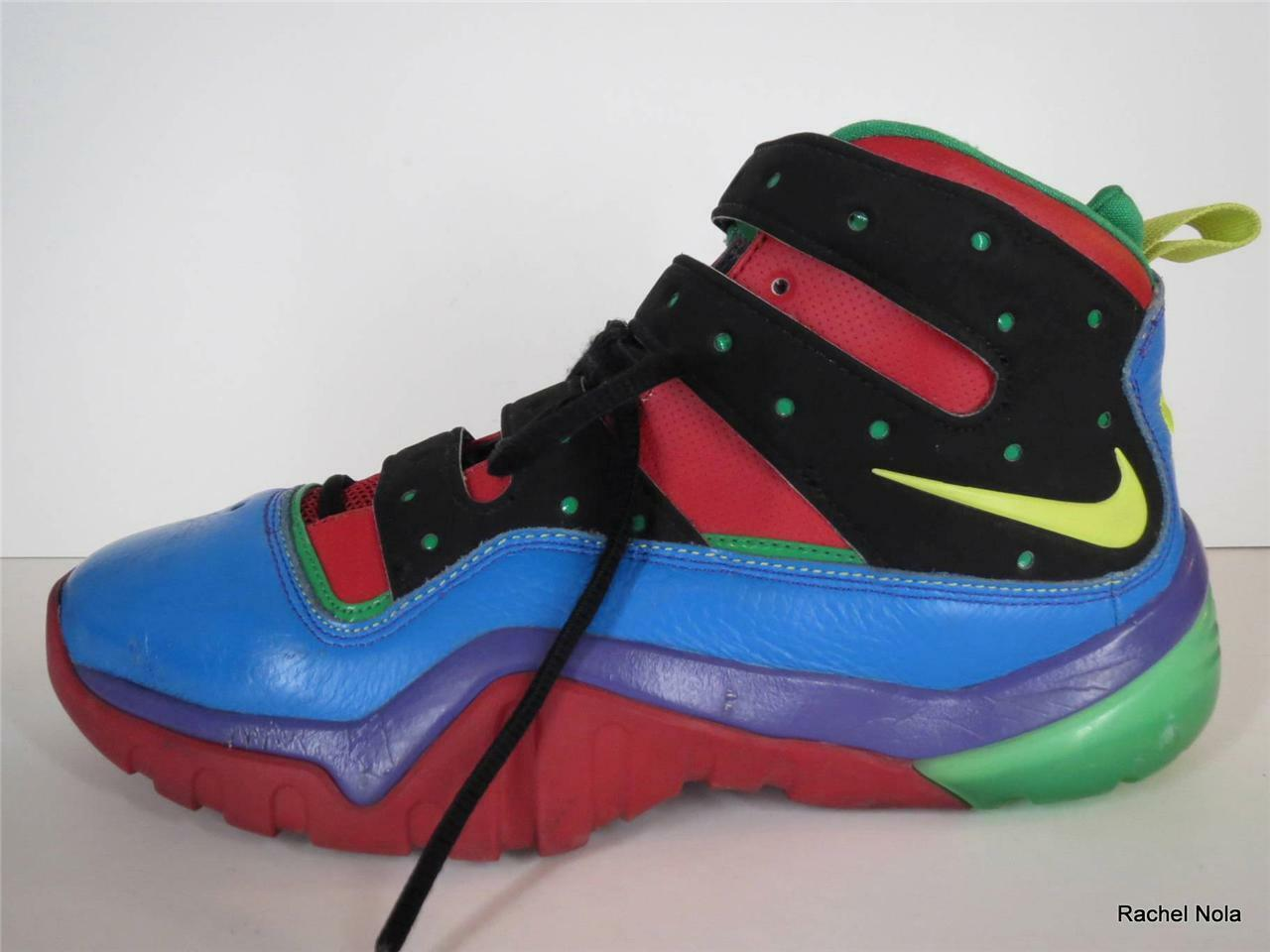 Nike Sneakers 9.5 ID Remix Mens Size 9.5 Sneakers Retro Colorful Blue Red Green High Top d2fd23