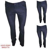 Jeans Donna elasticizzati diesel muze dritto vita bassa W26 29 30 31 blu scuro
