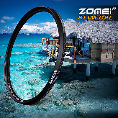ZOMEI 58mm Ultra Slim CIR-PL CPL Optical Glass Pro Circular Polarizing Polarizer Camera Lens Filter with Cleaning Cloth