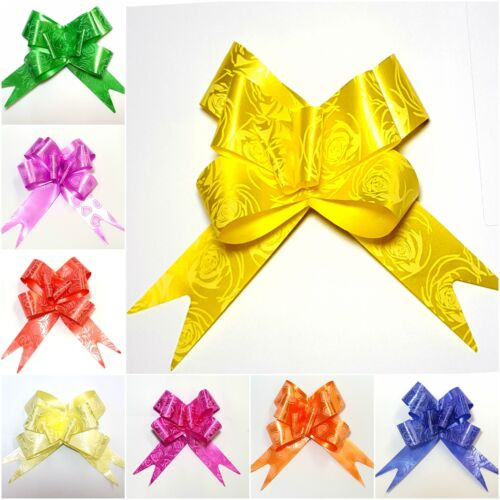 10-100 Pull Bows Decorations Wedding Car Xmas Gift Wrap Floristry All Colours
