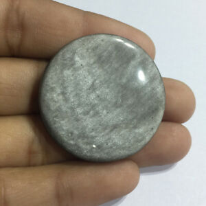 Gorgeous-Silver-Obsidian-Cabochon-Gemstone-Top-Quality-Round-Shape-61-Cts-KNE-4