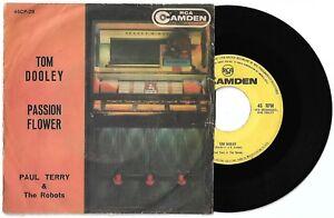 "7"" PAUL TERRY & THE ROBOTS Tom Dooley (Rca Camden 59 ITALY) unique ps country VG"