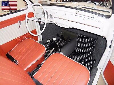 Volkswagen Type 34 Karmann Ghia 1961-1969 Custom Car Floor Mats CocoMats 2 Piece