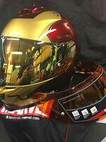 Hjc Is-17 Iron Man Marvel Helmet Small Free Gold Mirrored Shield