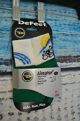 """Defeet Aireator 2/"""" Northwest Cycling Socks XL ~ NWT"""