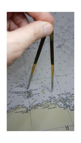 Brass Navigation Divider with Polished Stainless Steel Tips from Ferocious Vi...