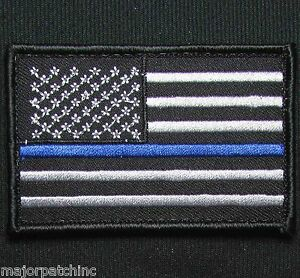 USA-AMERICAN-FLAG-DARK-OPS-POLICE-THIN-BLUE-LINE-TACTICAL-MORALE-HOOK-PATCH