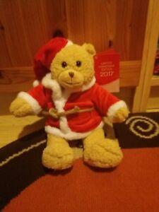 Teddy Bär auf Girlande Fensterbild Weihnachten