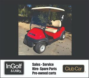 Club Car PRECEDENT 2012 48V Electric Golf Cart Buggie Buggy RECENT BATTERIES RED