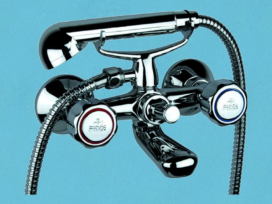 Gruppo vasca rubinetto Fiore cromato rubinetteria serie Astro Doria 1 2