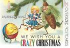 We Wish You a Crazy Christmas Postcard Book   The Edit PB 159583446x GDN
