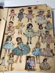 Vintage Scrap book Dolls Betsy Wetsy Tiny Tears Satin Skin Shirley Patsy 40-50's
