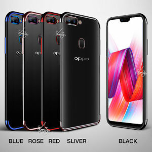 new arrival f0ca1 d0fbc Details about Plating Gel Stylish TPU Case Cover for Oppo AX5 AX7 A73 R15  R17 Pro R11S Plus