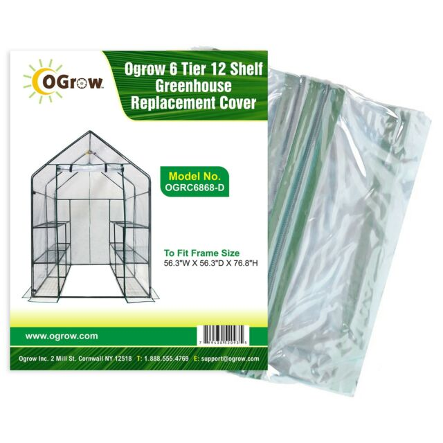 Ogrow Greenhouse Replacement Cover 6 Tier 12 Shelf OGRC6868-D New