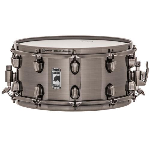 "Mapex BLACK PANTHER Machete 14/"" x6.5/"" Steel Snare Drum BPST4651LN Brushed Nickel"