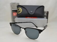 Ray-Ban RB3716 Men's Clubmaster Metal Sunglasses - Matte Blue