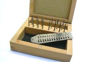Mini-Tap-and-Die-Set-14-Taps-Screwplate-Micro-Tool-Jewelry-Making-amp-Watch-Repair