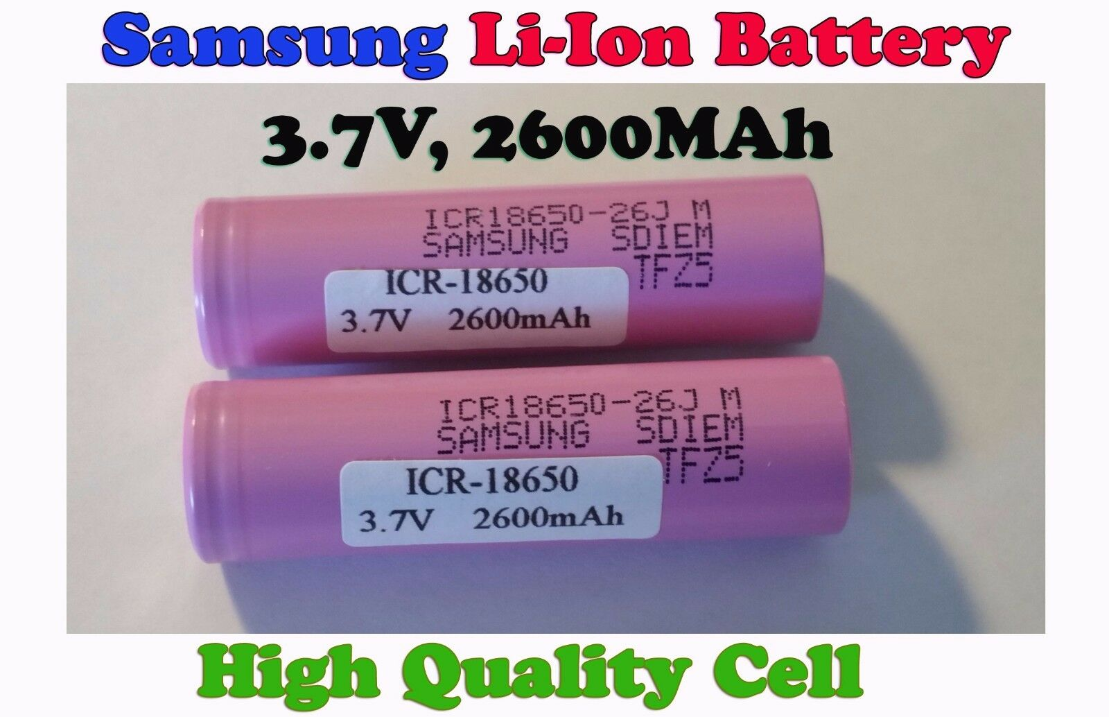 Samsung 2600mah 18650 Li Ion Lithium Battery Power Tool