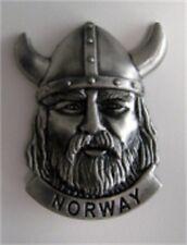 Pewter Viking Head Norway Magnet