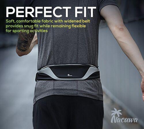 Nacuwa Running Belt Adjustable Waist Pack Waterproof Runners Belt for Fitness
